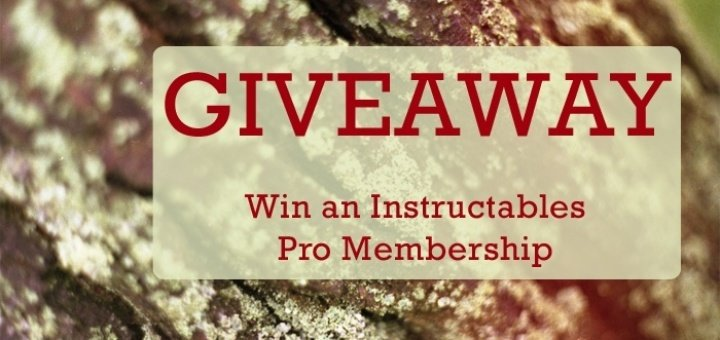 September Instructables Pro Membership Giveaway