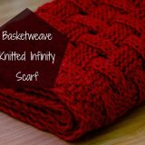 Basketweave Knitted Infinity Scarf