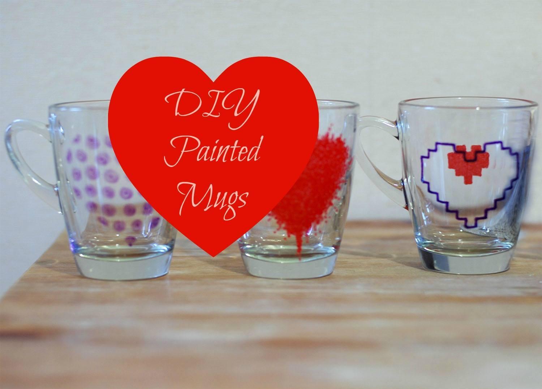 Diy Painted Mug St Valentine S Gift Idea Things We Do Blog