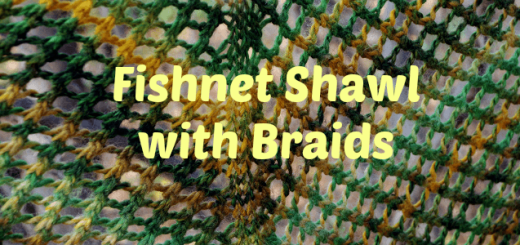 Fishnet Shawl with Braids