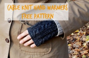 cable knit hand warmers_title image