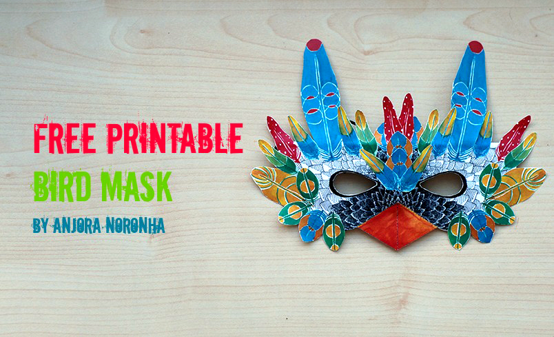 free printable bird mask by anjora noronha things we do blog