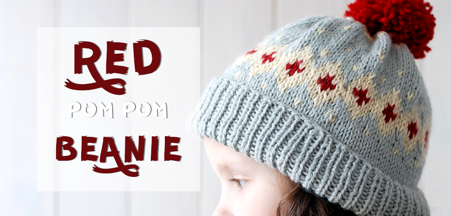 Red Pom Pom Beanie - Things We Do Blog
