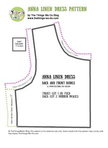 Anna Linen Dress Pattern